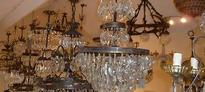 Chandeliers at Le Moulin