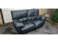 Leather 2 Seater, Excellent Quality & Condition