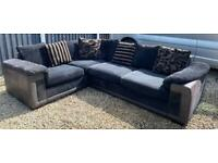 Black & Grey Corner Sofa