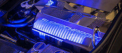 2014-2017 Z06 Corvette Stingray - Fuel Rail Covers SUPERCHARGED w/Illumination for sale  Shipping to Canada