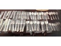 Mappin & Webb Russell pattern cutlery set still wrapped