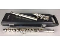 -YAMAHA YFL 22S- JAPANESE MODEL SILVER PLATED FLUTE & ORIGINAL FITTED CASE/BOX