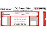 PATTI SMITH~MANCHESTER~O2 APOLLO~ROW E FRONT CIRCLE SEATS~100% TRUSTED SELLER