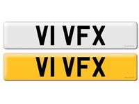 Personal registration number plate