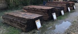 "Fence posts and timber pressure treated, various sizes 2.4m 4"" x 4"" £9.00 each"