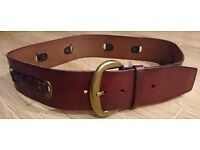 FOSSIL Braided Link Brown belt