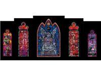 Jamie Hewlett – Stained Glass Window, 2005 Set (5 Prints, Signed, Unique)