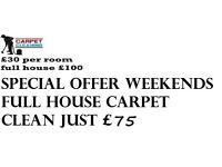 carpet cleaner services same day special offer weekends full house carpet clean just £75