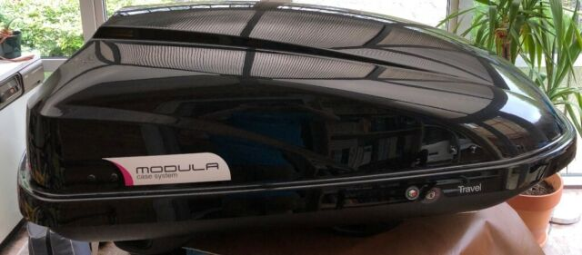 Modula Travel 370L Gloss Black Car Roof Top Box with Dual Side Opening