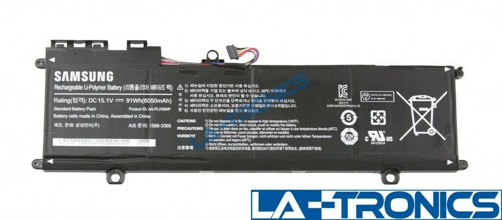 Genuine Samsung NP880Z5E 15.1V 91Wh 6050mAh Laptop Battery AA-PLVN8NP Tested