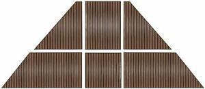 Ensemble de panneaux de toit en polycarbonate 7mm pour Gazebo 10x12 / 7mm Polycarbonate Roof panel kit for 10x12 Gazebo