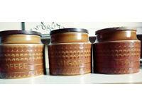 Vintage Hornsea tea, coffee and sugar cannisters
