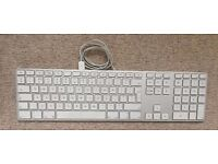 Apple 'Aluminium' USB Keyboard with NumPad - GREAT CONDITION - FULLY WORKING - Bargain at £20 !!