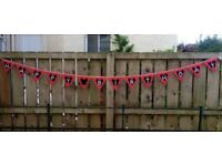 Fabric bunting Happy Birthday in Disney style, used but in excellent condition