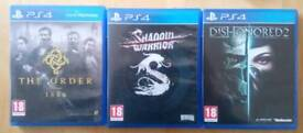 3 PS 4 games