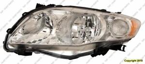 Head Lamp Driver Side Base/Ce/Le/Xle Japan Built High Quality Toyota Corolla 2009-2011