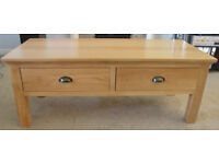 Light Oak Coffee table with deep drawers