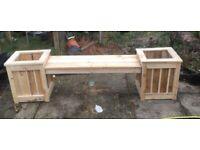 Handmade bench planter