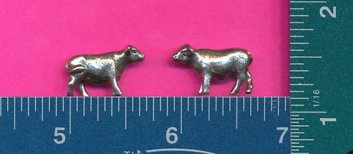 100 wholesale lead free pewter cow figurines m11078