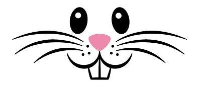 Easter Bunny/Rabbit Face - Cut Vinyl Decal/Sticker - - Bunny Face Design