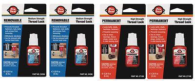 Thread Locker 6 Ml Blue 6 Ml Red Pro-seal 4 Pc Proseal New In Package