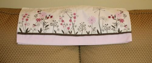 Kidsline BUTTERFLY MEADOW window valance pink brown 60x14 (3 available)