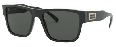 Versace VE4379 GB1/87 56mm Sunglasses Black / Grey Lens [56-17-140]