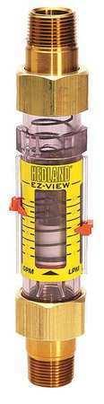 HEDLAND H625-604-R Flowmeter,3/4 MNPT,0.5-4 GPM