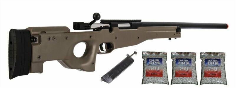 425 FPS L96 M96T Bolt Action Tactical Airsoft Sniper Rifle & 3000 BBs TAN