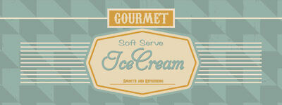 36 Soft Serve Ice Cream 03 Sticker Ice Cream Cold Concession Stand Sign