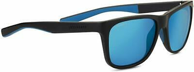 Serengeti Livio Sunglasses 8683, Black/Blue Frame/Polorized 555nm Blue (Polorized Sun Glasses)
