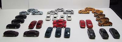 N Scale Model Railroad Vehicles Mixed Styles In 12 Colors  32 Cars Per Set