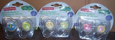 Fisher Price 2pk Pacifiers, Animals of the Rainforest, Baby Shower, Diaper Cakes - Fisher Price Animals Of The Rainforest