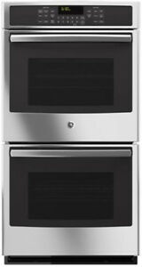 "GE 27"" STAINLESS STEEL BUILT-IN DOUBLE WALL OVEN - JK5500SFSS"