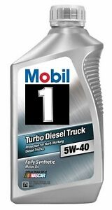 Mobil 1 103171 turbo diesel truck 5w 40 synthetic motor for 5 w 40 motor oil