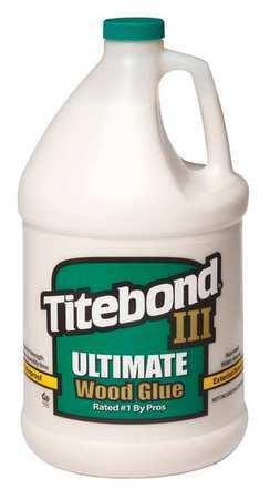 Titebond 1416 Wood Glue, 128 Oz, Jug, Begins To Harden In 10 Min 24 Hr Full Cure
