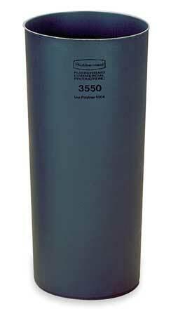 Rubbermaid Fg355000gray 12 Gal Lldpe Round Rigid Liner, Gray