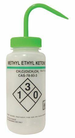 Lab Safety Supply 24J907 Translucent, Wash Bottle 16 Oz., 6 Pack