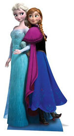 Disney Frozen Anna & Elsa, Life Size Cardboard Cutout only £10 USED ONCE *****PRICE REDUCED*****