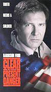 Clear and Present Danger (VHS, 1995) Harrison Ford