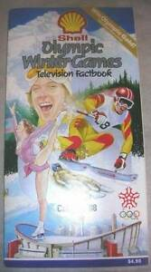 1988 Winter Olympics Television Fact book by Shell Oil