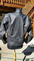 Woman's Teknic Leather jacket with body armour and removable ves