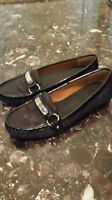 authentic COACH monogram loafer