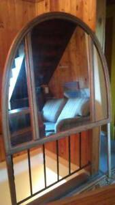 Mirror, headboard v. good condition 4 any size bed-deducted $25.