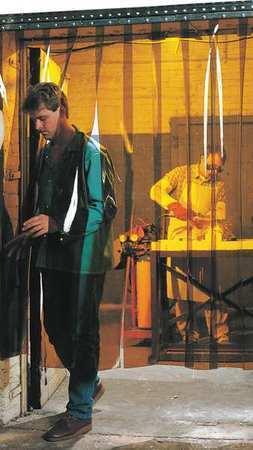 Steiner 73411 Welding Strip Curtain,6 X 6 Ft,Amber,Pvc