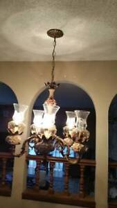 Matching Antique chandelier lighting collection for sale