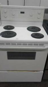 "30"" White Coil Top Stove, Great Condition"