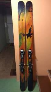 4FRNT Renegade Powder Skiis w/ Marker Baron Touring Bindings Comox / Courtenay / Cumberland Comox Valley Area image 1
