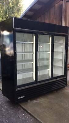 Refurbished True 3 Glass Door Cooler Gdm72 Used Clean Working