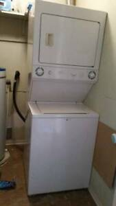 GE STACKER WASHER DRYER GOOD WORKING CONDITION TODAY 15TH FEB